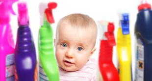 Denk twee keer na voor u bijtende producten in huis haalt, zeker als er kinderen zijn.