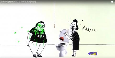 Levensreddend reclameblok over vergiftiging.