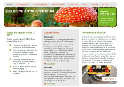 Snapshot nieuwe website Antigifcentum