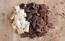 Donkere chocolade is gevaarlijker dan melkchocolade voor honden. Witte chocolade is niet gevaarlijk.