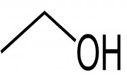 Structuurformule van ethanol